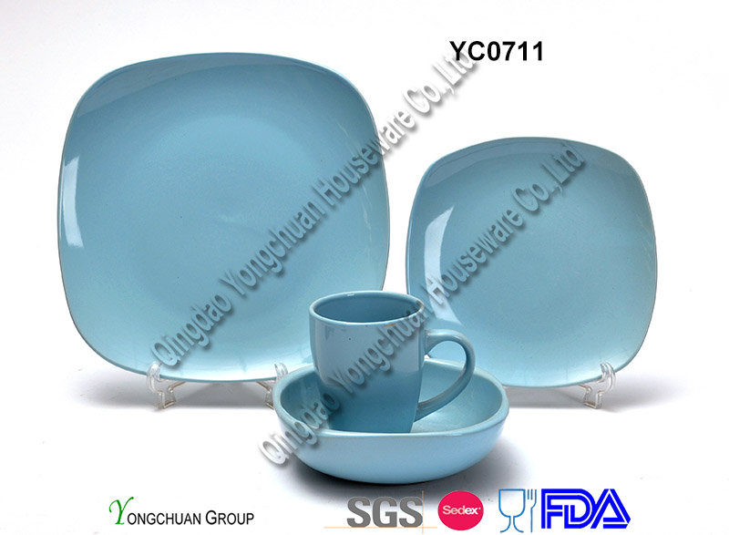Green Square Plate