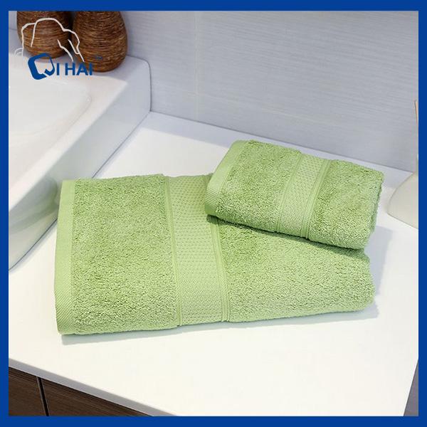 100% Pink Color Cotton Towel Sets (QHD885)