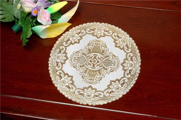 30cm Round PVC Lace Gold Doily Factory Cheap Wholesale