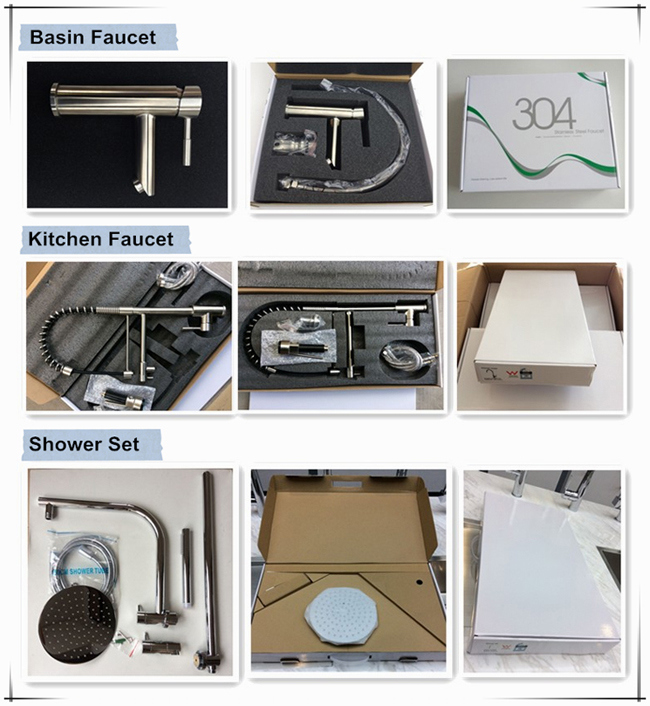 Hot Sell Lead Free Stainless Steel Basin Taps Moderate Price