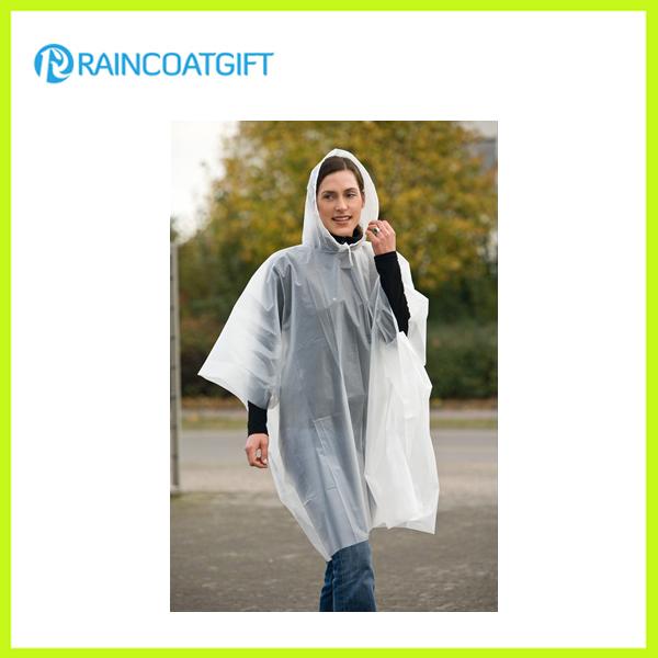 Transparent PE Disposable Raincoat Rpe-024