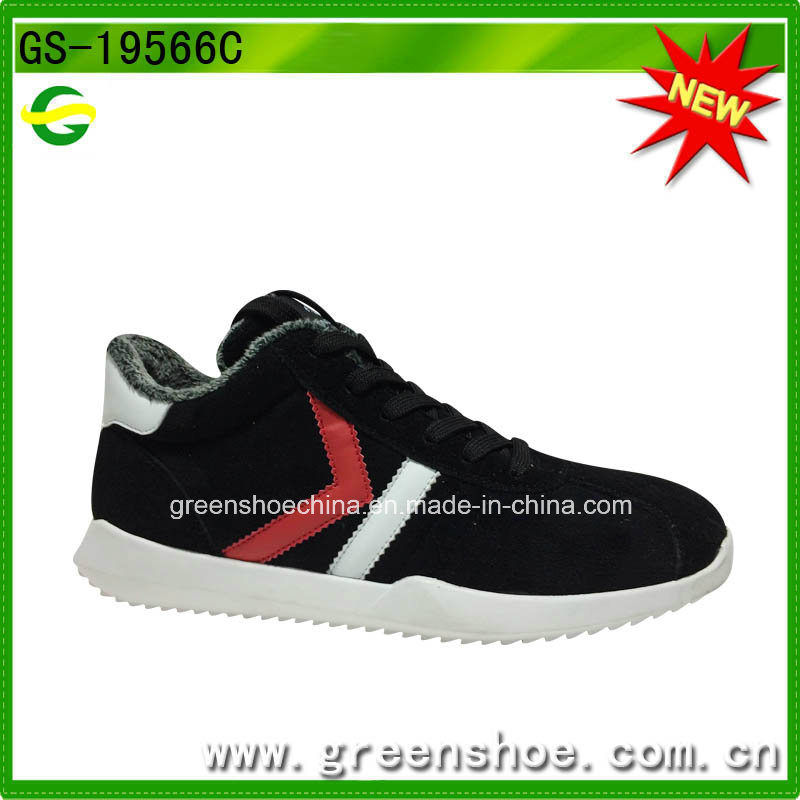 Cheap Customized Fashion Comfortable Fake Fur Men Winter Sports Shoes