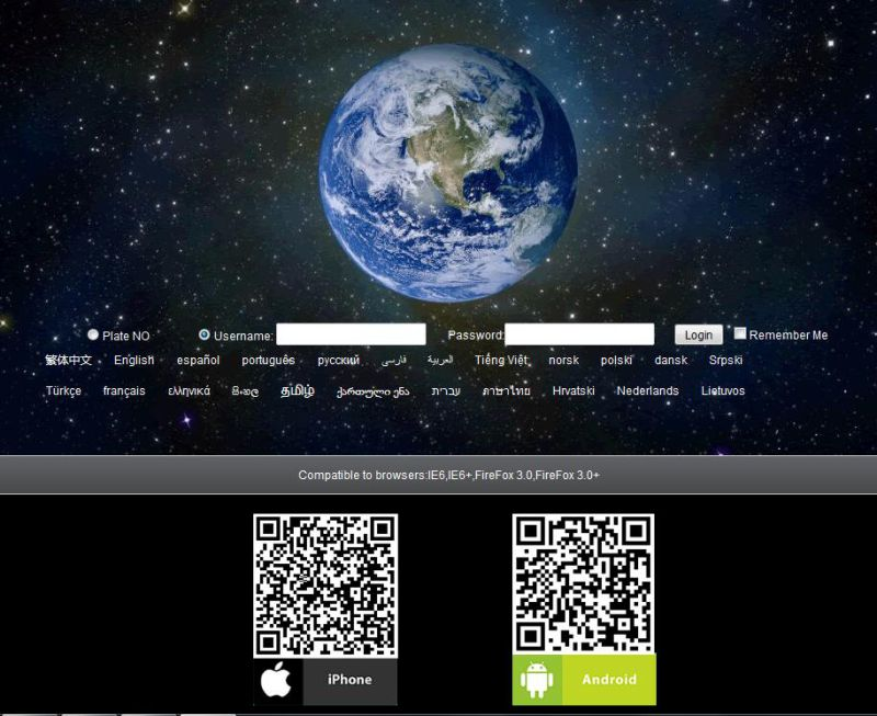 Web Based Software, Tracking Platform& APP Android &Ios GS102