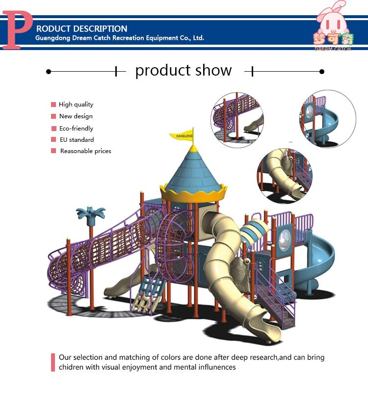 Various Series Custom Children Outdoor Playground Equipment Sale