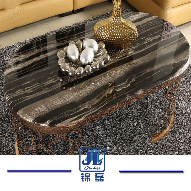 Natural Stone Round/Rectangle Silver Dragon Marble Top Dining Table for Home Furniture