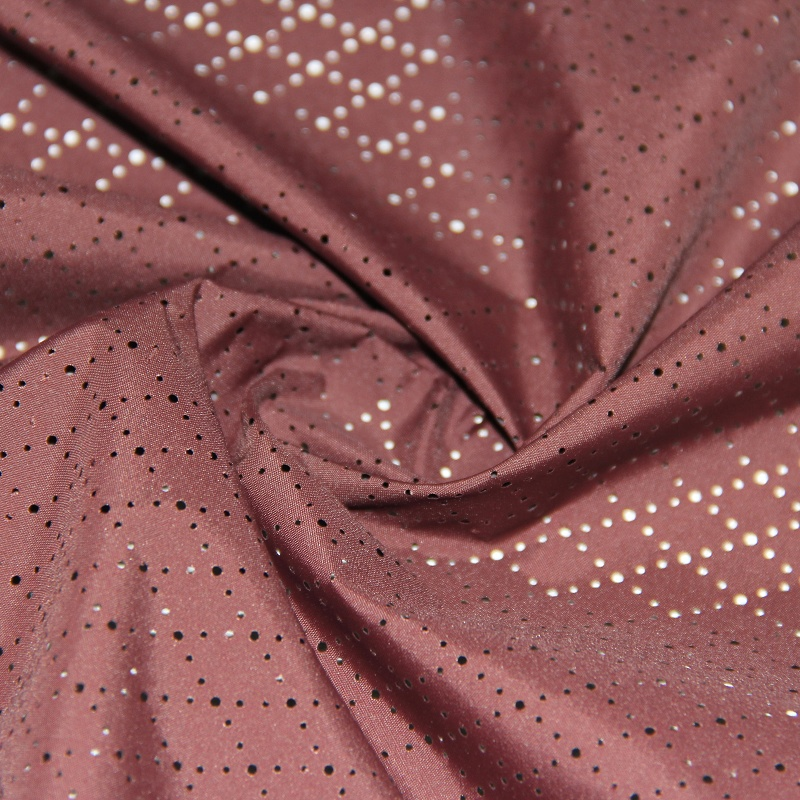 Polyester Pongee Fabric with Diamond Mesh Hole Pattern