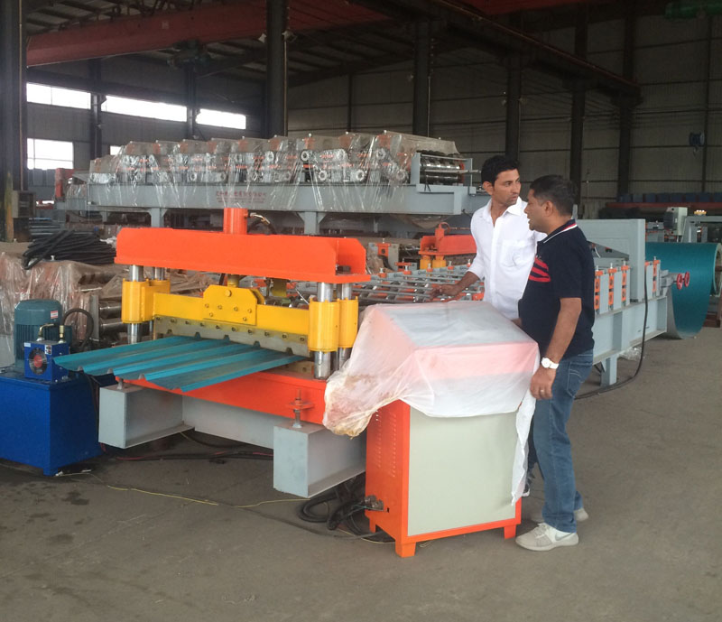 High Quality Automatic Steel Roofing Cold Roll Forming Machine