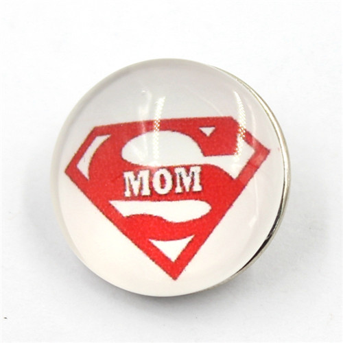 18mm Custom 'i Love Mom' Button Resin Snap Button for Brecelet