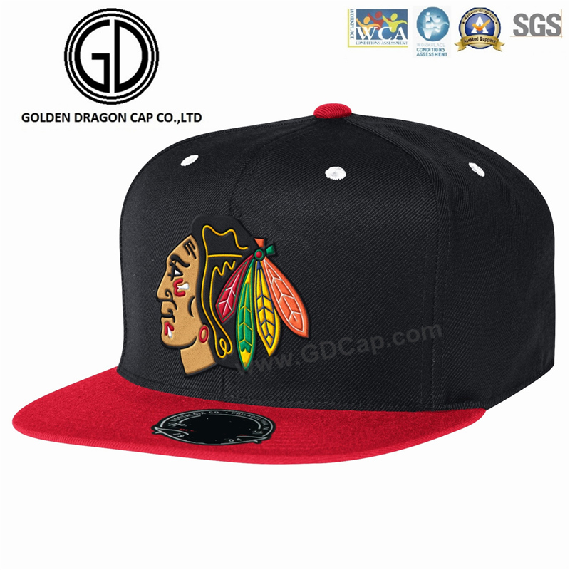 New Snapback Era Flat Brim Fiftted Cap with High Quality 3D Printing