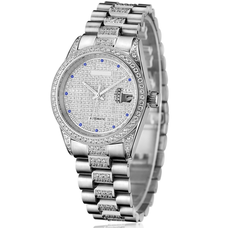 Full Stone Lover's jewelry Watch with Automatic Movement and Full Stones