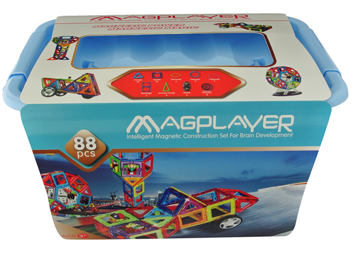 88PCS Wonderful Kids Educational Magnetic Toys Special Magnet Super ABS