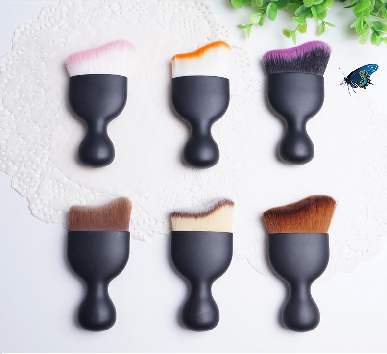 Single Wave Contouring Face Foundation Makeup Brush