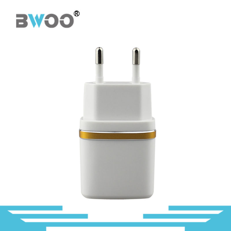 Wholesale Two USB EU Charger for Mobile Phone