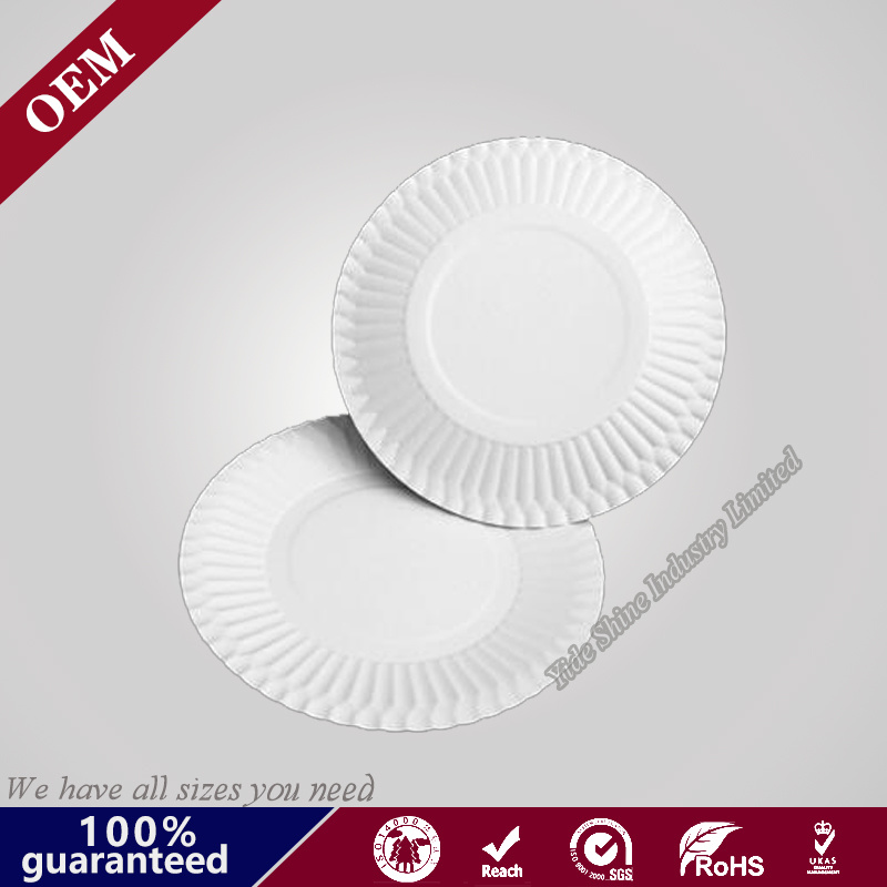 Disposable White Paper Charger Plates Wholesale