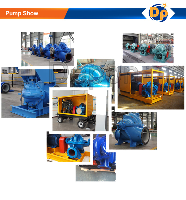 High Flow Rate Large Flooding Water Pump with Control Cabinet
