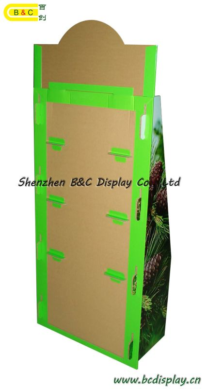 2016 Hot Selling Cardboard Display for Agricultural Products Cardboard Floor Display Stand (B&C-A004)