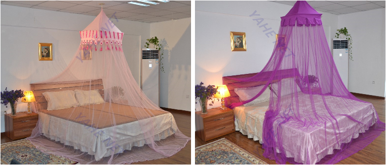 Hanging 4 Poster Bed Canopy Mosquito Net