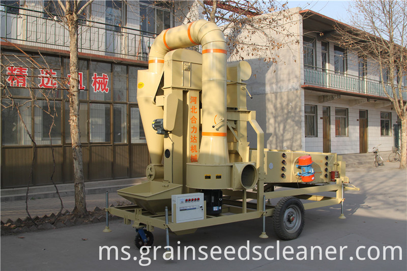 Bijirin Benih Gandum Bean Maize Sesame Corn Air Seed Cleaner