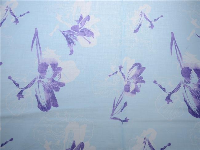 Print Ramie Cotton Fabric Flower Print Cotton Fabric (DSC-4122)