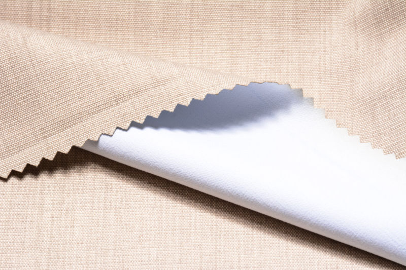 100% Polyester 3 Pass Blackout Coated Flocking Fabric for Curtain (57/58