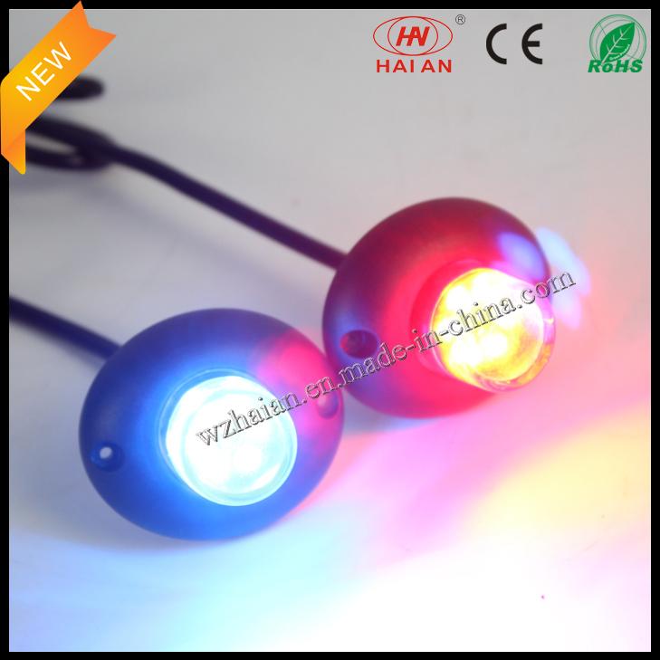 Red Blue LED Hide a Way Car Strobe Warning Lights