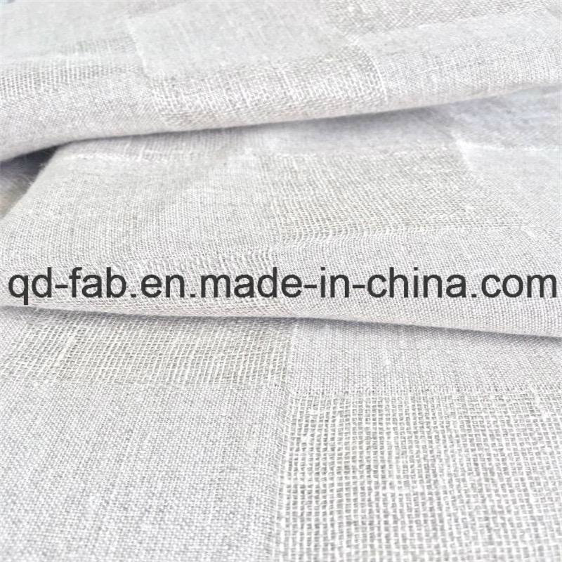 Yarn Dyed Jacquard Linen Fabric (QF16-2471)