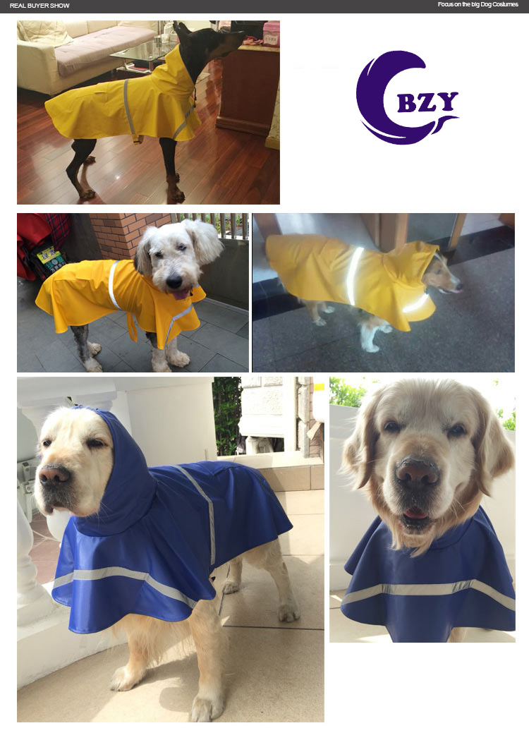 High Quality Dog Clothes Polyester Transparent Non-Toxic Pet Raincoat