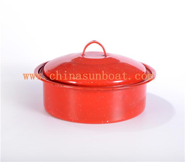 Sunboat 3qt Enamel Stock Pot Enamel Cookware/ Kitchenware/Cookware