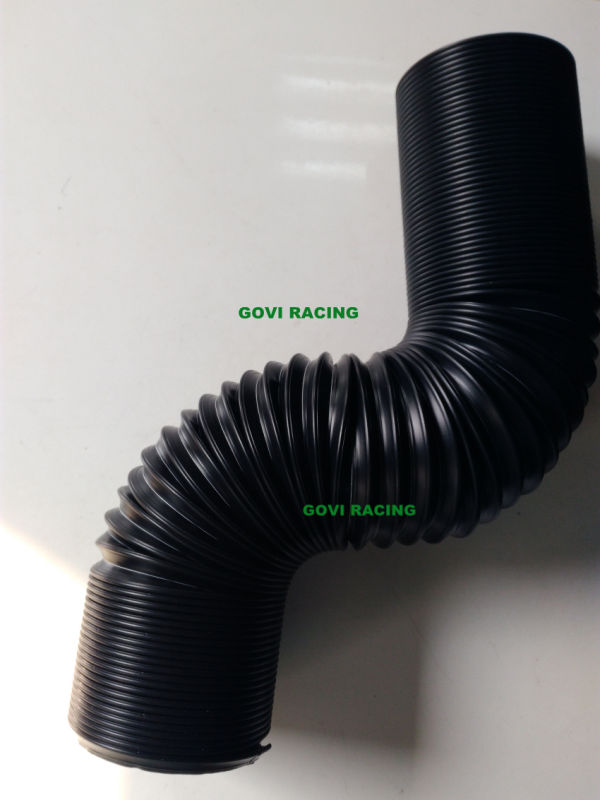 Plastic Flexible Pipe 3'' ID 90cm Extended Length Black Universal