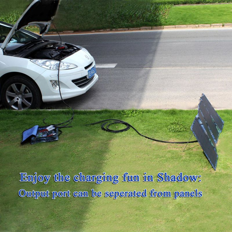60W Waterproof Emergency Portable Solar Battery Charger for Travel