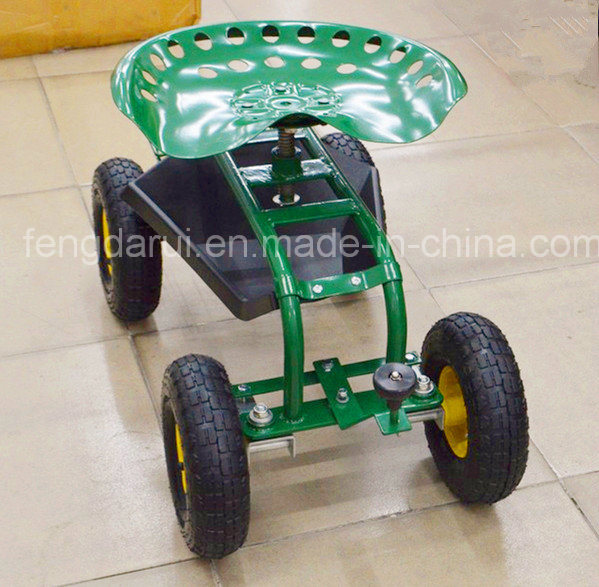 Garden Seat Cart for Sitting with Pneumatic Wheel (TC4501)