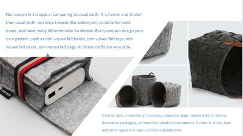 100% Polyester Needle-Punched Nonwovens Felt