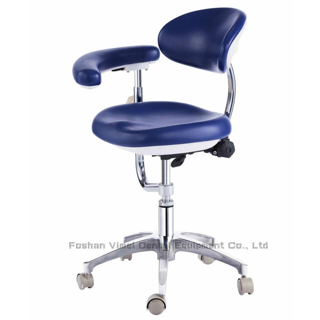 Dental Chair PU Leather Dentist Stool with Armrest