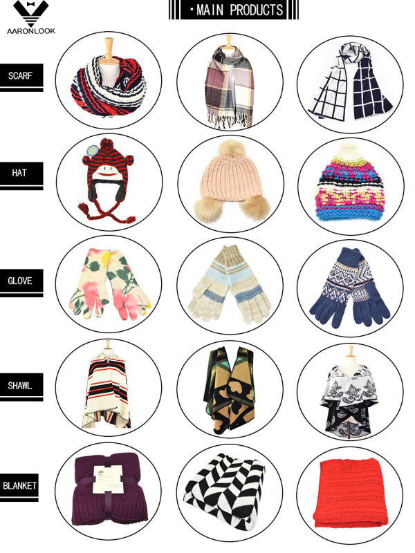 Kids Cute Winter Warm Keeping Knitted Hood Scarf
