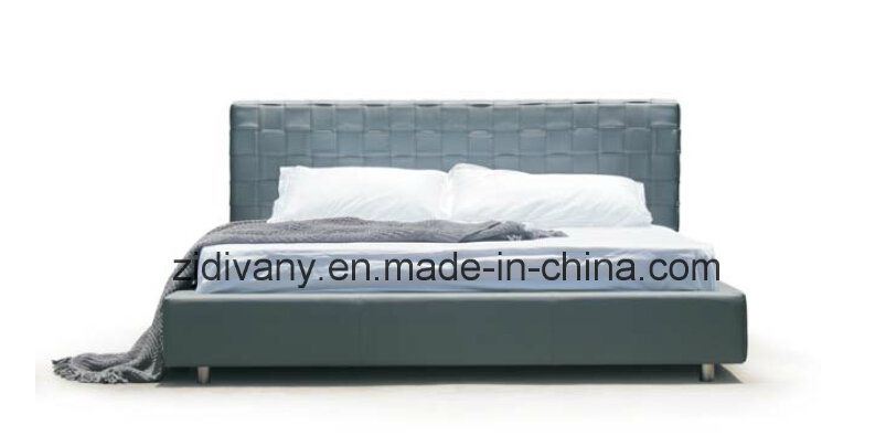 Modern Bedroom Furniture Leather Wood Bed (A-B41)
