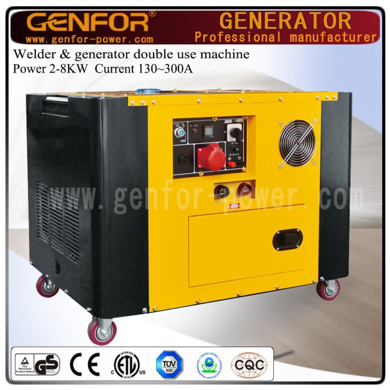 200A 5kw Diesel Welding and Generating Double Use Machine with Brush or Brushless