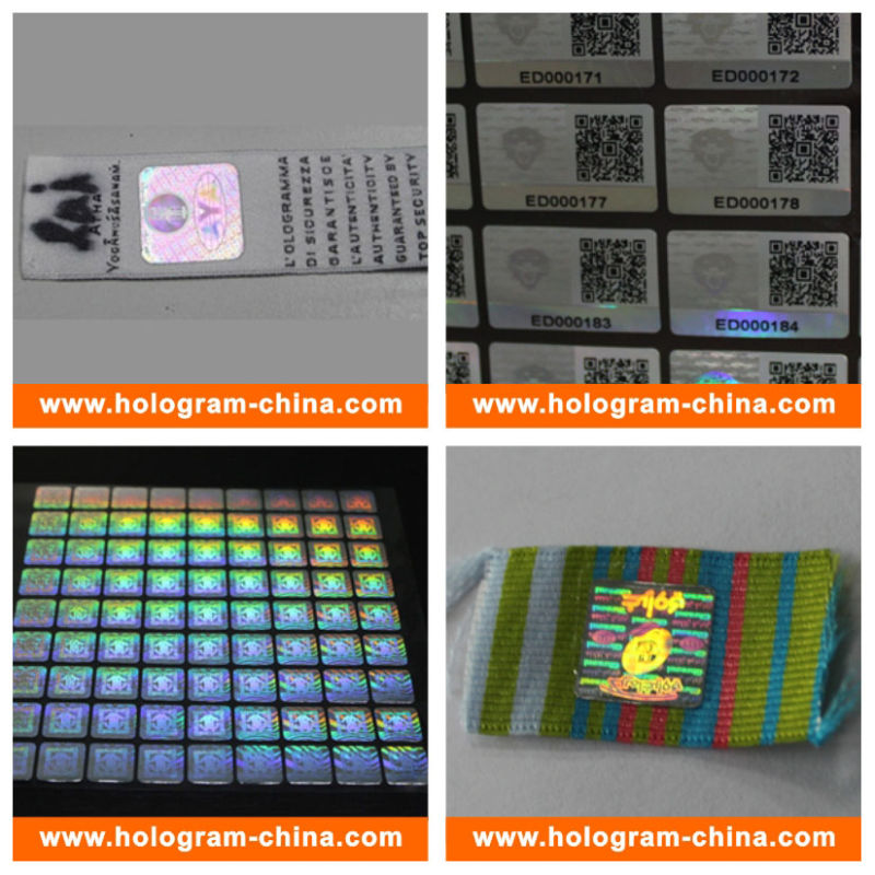 Anti-Counterfeiting 3D Laser Hologram Sticker for Cloth