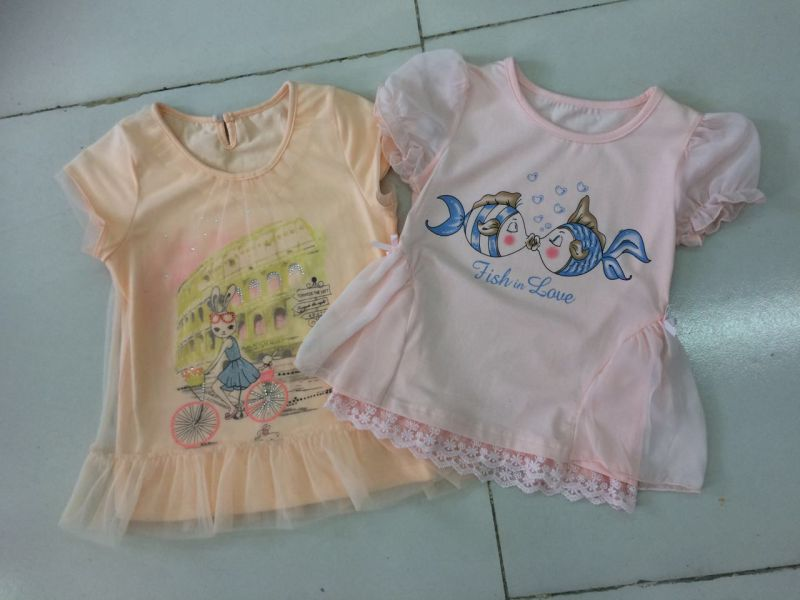 3D Washing Baby Children T-Shirt in Kids Clothing with Cotton Quality Sqt-614