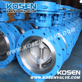 Cast Steel Flanged Butterfly Valve (D343H)