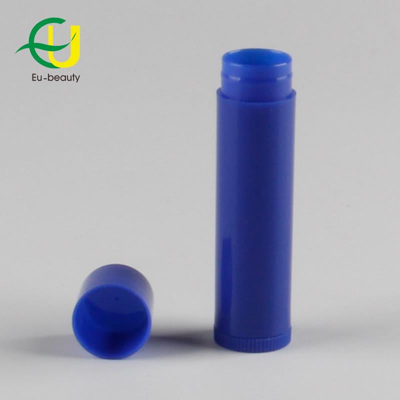 Dark Blue Plastic Cosmetic Lip Stick Tube