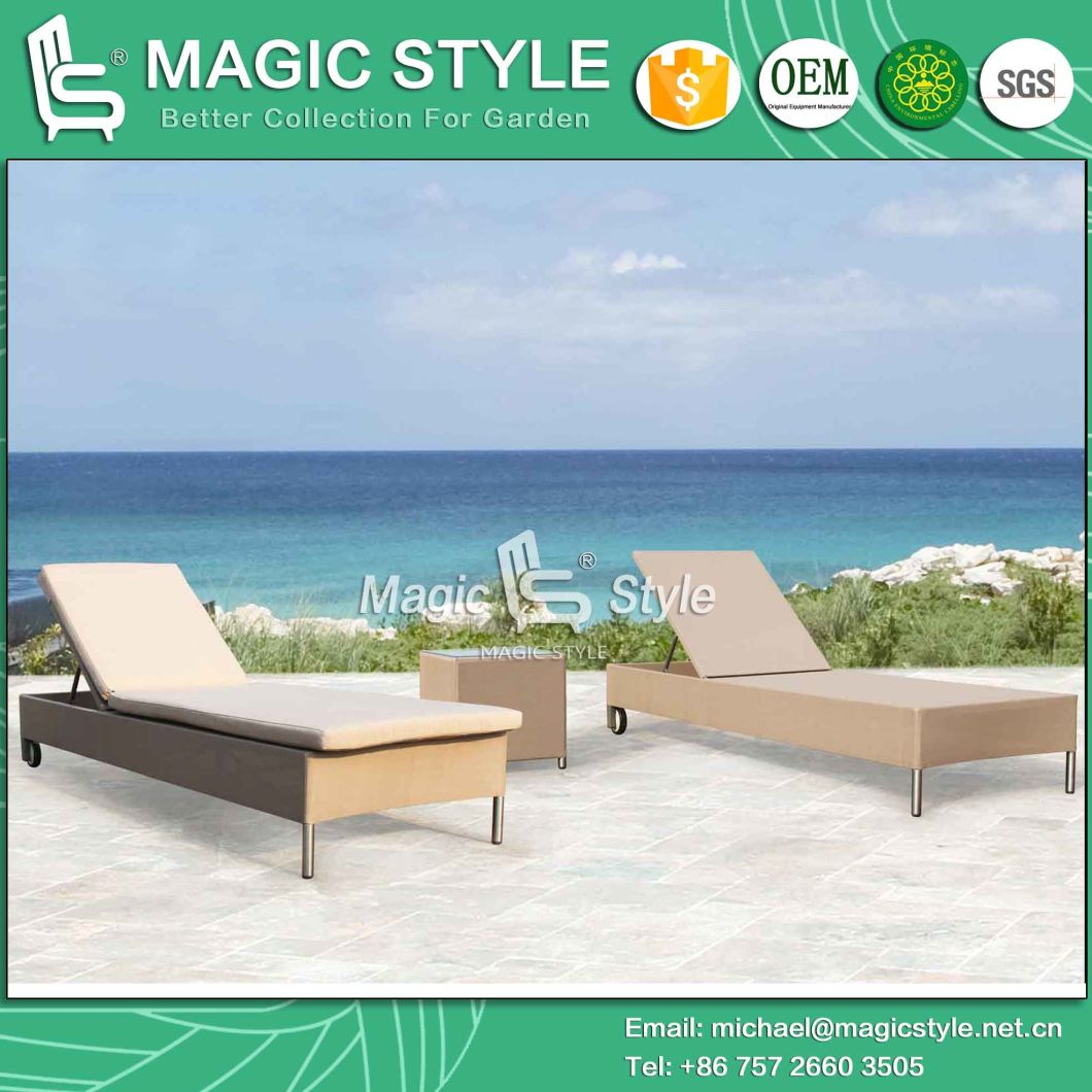Nes Design Sling Sunlounger Textile Sunbed Sling Daybed Garden Furniture (Magic Style) Foshan