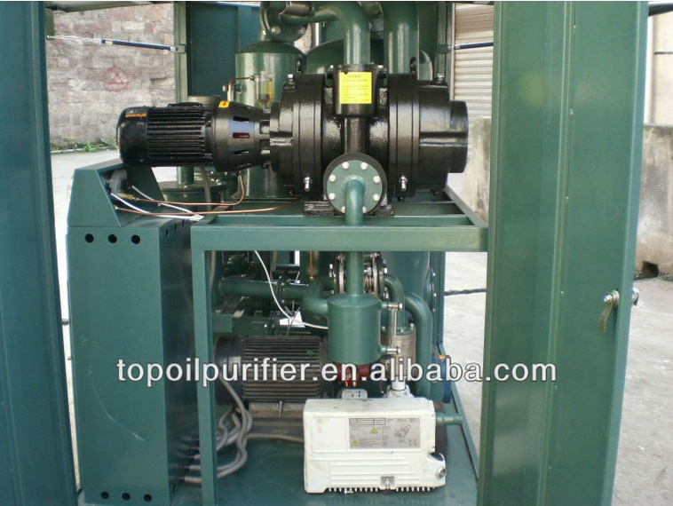 High Efficient 6000L/H Vacuum Transformer Oil Refinery Plant