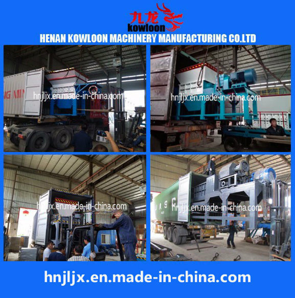 Double Shaft Shredding Waste Paper Shredding Machine