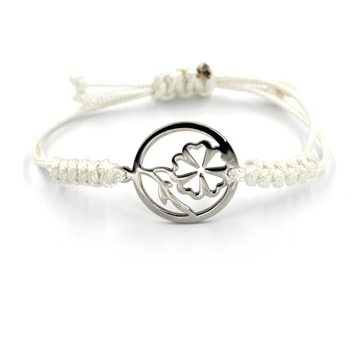 Warm Heart of Christmas Gift Flowers Charms Adjust Leather Bracelet