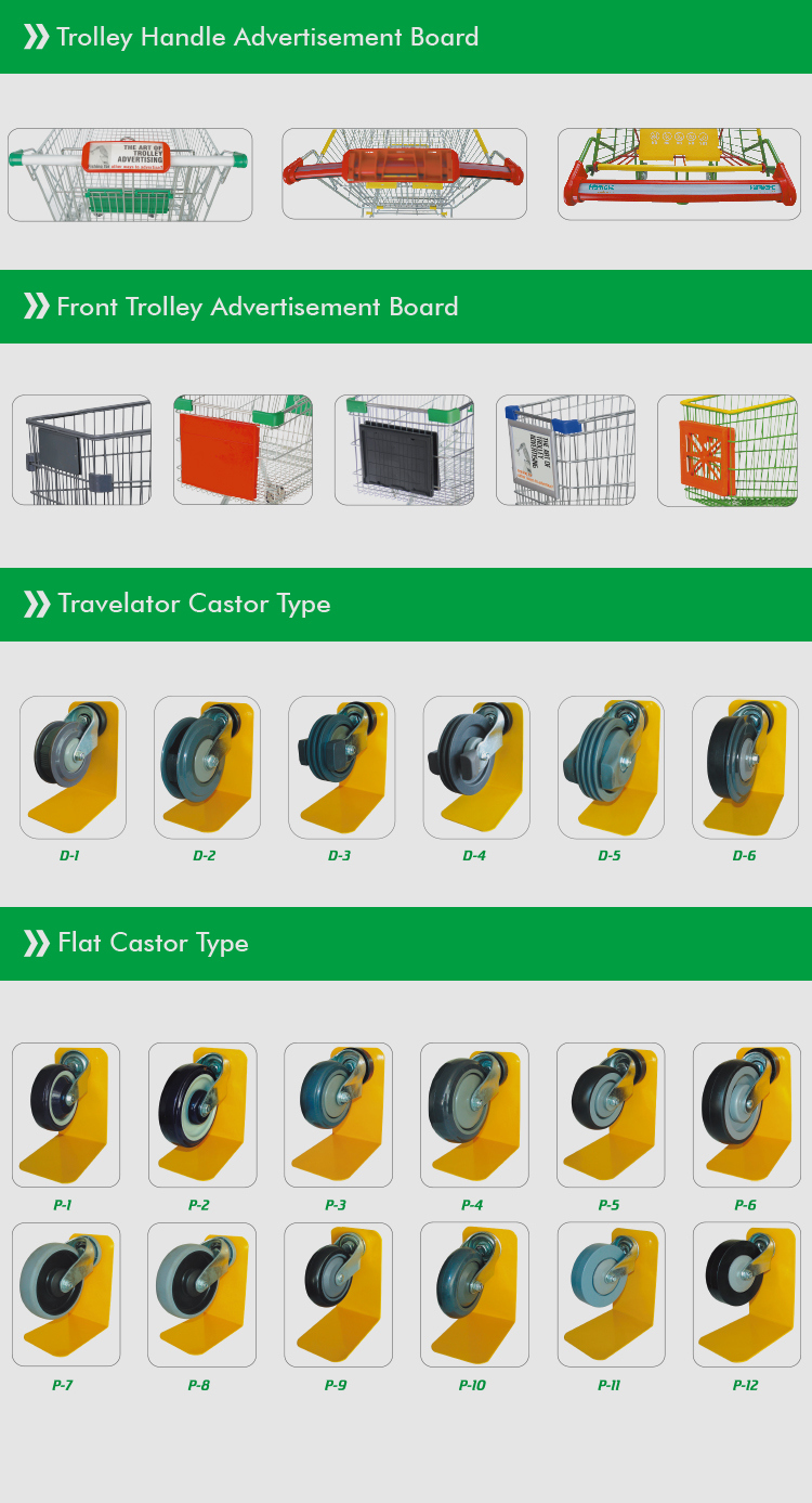 Hot-Selling 120L Retail Store Metal Plastic Shopping Trolley