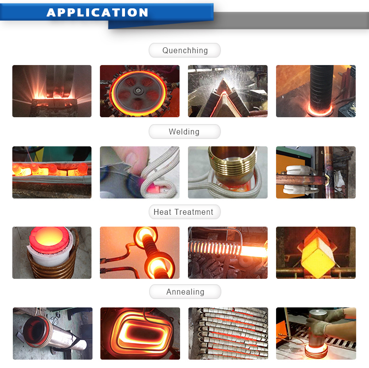High Frequency 25kw, 380V Induction Heating Metal Hot Forging Machine