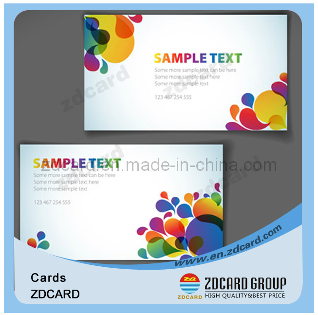 Plastic PVC ID Card Business Card Clear Card