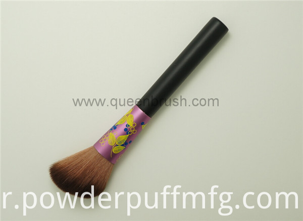 Leaves Pattern Two Tones Synthetic Hair Angled Blush Brush
