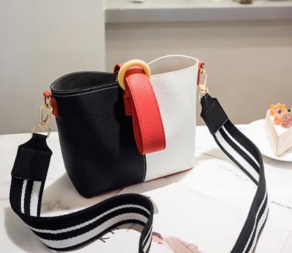 Fashion PU Leather Tote Women Shoulder New Bucket Bag Lady Handbag