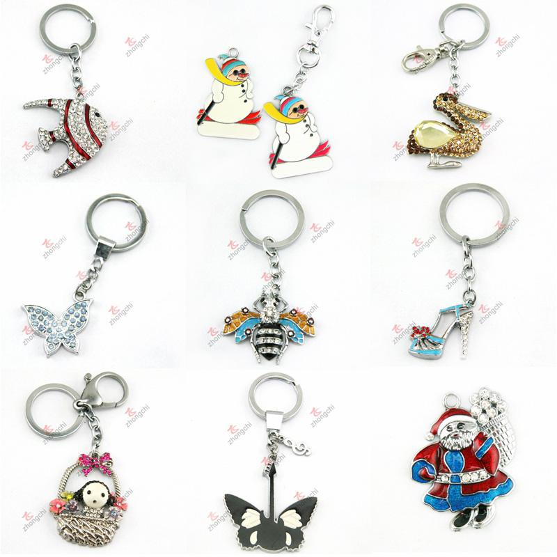 2015 Newest Animal Crystal Keychain Wholesale (KR-09-16)